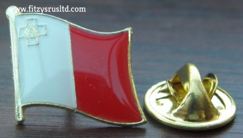 Malta Maltese Flag Lapel Hat Cap Tie Pin Badge Republic Repubblika ta' Malta New